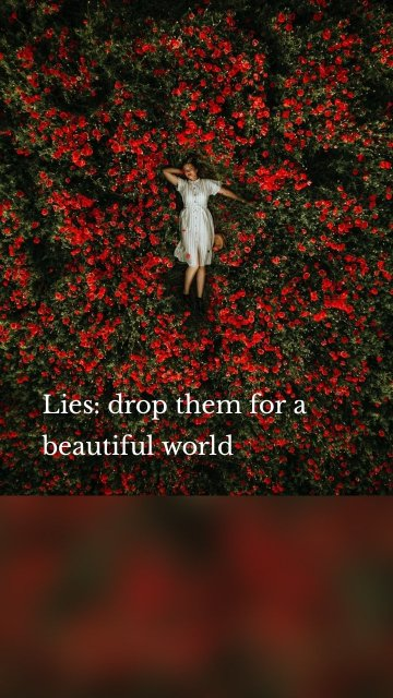 Lies: drop them for a beautiful world